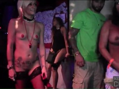 Topless party girls look good at the club movies at kilosex.com