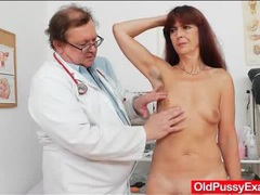 Small tits mature gets her pussy examined videos