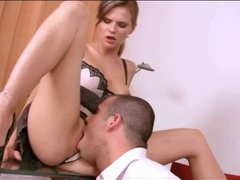 Sex on the office floor with gorgeous secretary videos