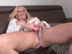 Hot blonde mature in panties masturbates solo movies at kilotop.com
