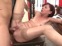 Mature redhead with little pierced nipples sucks dick movies at adspics.com