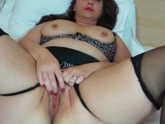 Bbw mature in black stockings masturbates videos