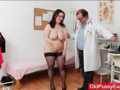 Bbw mature in for her yearly gyno exam videos