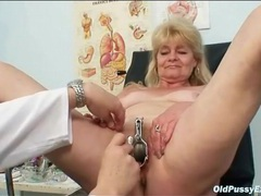 Pussy enema and speculum play in medical exam movies at find-best-lesbians.com