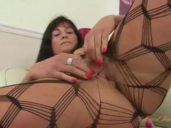 Body stocking is sexy on the masturbating milf movies at sgirls.net