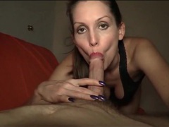 An erotic lipstick blowjob from lelu love movies at kilosex.com