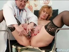 Doctor closely examines her mature pussy movies at sgirls.net