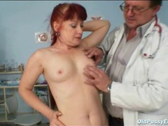 Mature fire crotch gets a pussy exam movies at kilopills.com