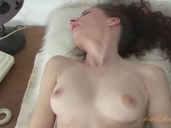 Horny mature on her back fingers her cunt movies at kilopills.com