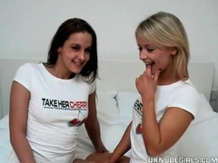 Adorable uk chicks strip and have lesbian sex videos