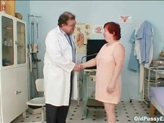 Fat redhead granny gets a pussy exam movies at adipics.com