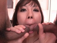 Japanese pussy slammed and wet mouth filled movies at sgirls.net