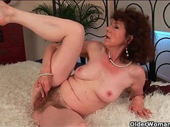 Classy mature fucked in her wet hairy pussy movies at lingerie-mania.com