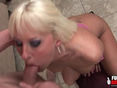 Deepthroat beauty in sexy eye makeup movies at kilogirls.com