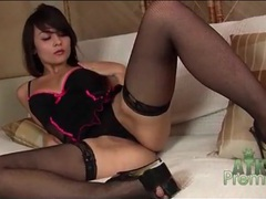 Sexy stockings and lingerie on solo sophia jade movies at sgirls.net