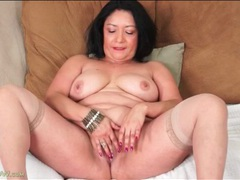 Chubby latina beauty strips and masturbates videos