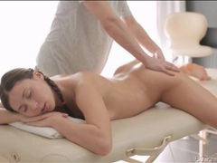 Massage oil makes her rubdown wicked sexy movies at lingerie-mania.com