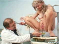 Doctor fondles and fingers his blonde milf patient movies at sgirls.net