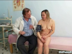 Gynecologist gives her pussy a checkup movies at lingerie-mania.com