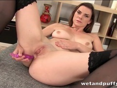 Anal beads turn on a chick in black stockings videos