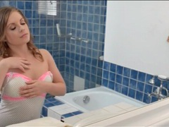 Beauty wakes up and showers in sultry video videos