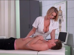 Sexy nurse wants him to suck on her tits videos