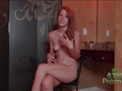 Naked solo redhead pepper kester chats with us movies at lingerie-mania.com