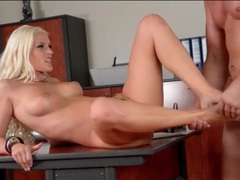 Anal blonde takes a big cumshot on her feet videos