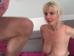 His lusty older lover gives a bj to his big cock videos