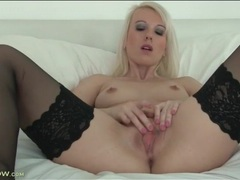 Small tits solo mom in stockings masturbates movies at lingerie-mania.com