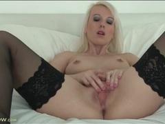 Small tits solo mom in stockings masturbates movies at adipics.com