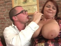 Horny old ladies with big fat titties fool around videos