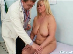 Doctor looks inside her mature pussy with a speculum movies at lingerie-mania.com