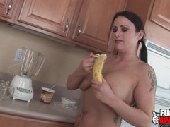 Chick pours a milkshake in her asshole videos