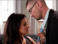 Gorgeous billie star blows her man after a date movies at lingerie-mania.com