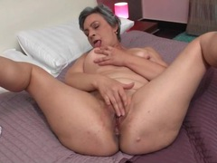 Grey hair granny masturbates alone in bed movies at adspics.com