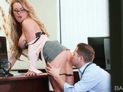 Secretary with amazing tits gets fucked doggystyle videos