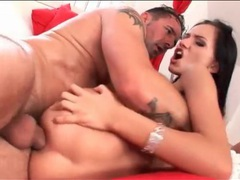 Two guys use the asshole of a petite slut movies at find-best-babes.com