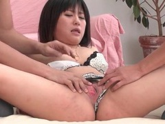 Two guys undress and fondle a japanese beauty videos