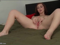 Sweet pornstar natalie lust strips and masturbates videos