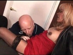Tranny is dressed like a hooker for her man videos
