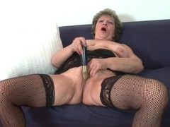 Granny cunt is gorgeous with a toy inside it movies at find-best-lingerie.com