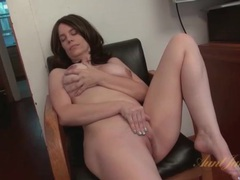 Milf fondles her big tits and masturbates her cunt videos