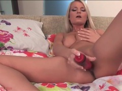 That big vibrating dildo turns on her pussy movies at lingerie-mania.com