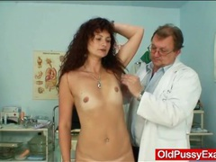 Skinny milf visits her doctor for a pussy exam videos