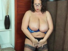 Let the bbw in stockings tease you lustily videos