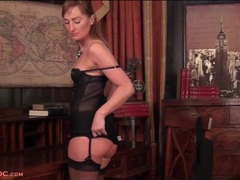 She will turn you on with smoking hot black lingerie movies at lingerie-mania.com