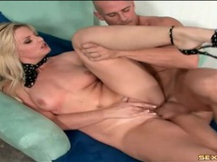Big cock pushes deep into a gorgeous blonde videos