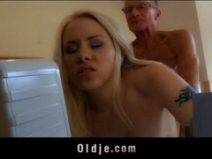 Young blonde secretary fucks the old guy at the office videos