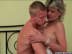 Erotic kisses and hardcore fucking with an old lady 2 movies at lingerie-mania.com